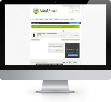 The Rural Store - Basket Page - Ecommerce Web Design