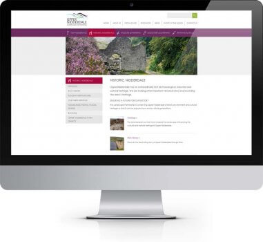 Upper Nidderdale Landscape Partnership - Bespoke Web Design North Yorkshire