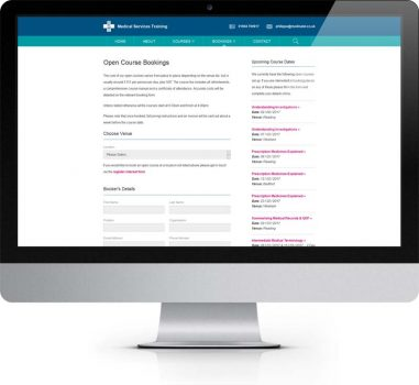 MST York - Bespoke Web Design - Booking Form