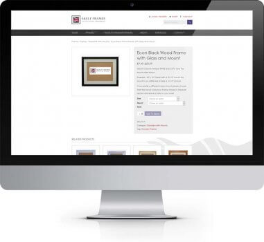 Skelf Frames Tadcaster - Ecommerce Web Deisgn York